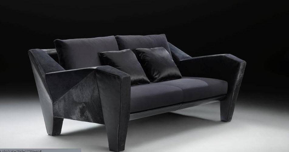 Canapé design original en tissu par Mario Bellini 2 places