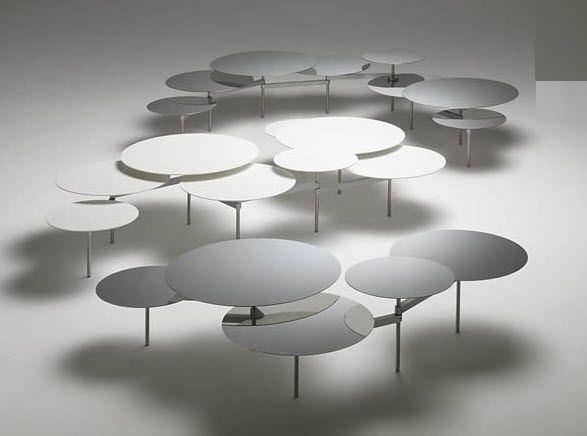 Table Basse Design Original En Métal Snake Meritalia