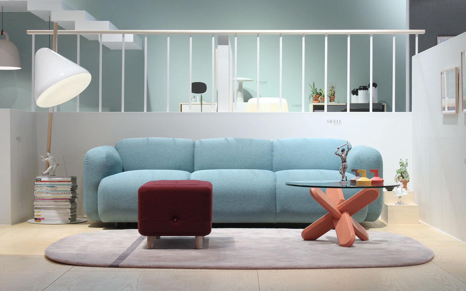 Canapé contemporain / en tissu / 2 places / 3 places - SWELL by ...