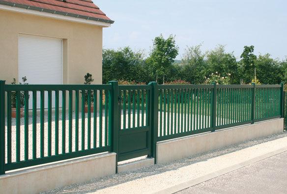 Clôture de jardin / à barreaux / en aluminium / teintée ...