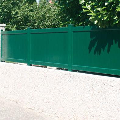 Clôture de jardin / à lames / en aluminium / teintée ...