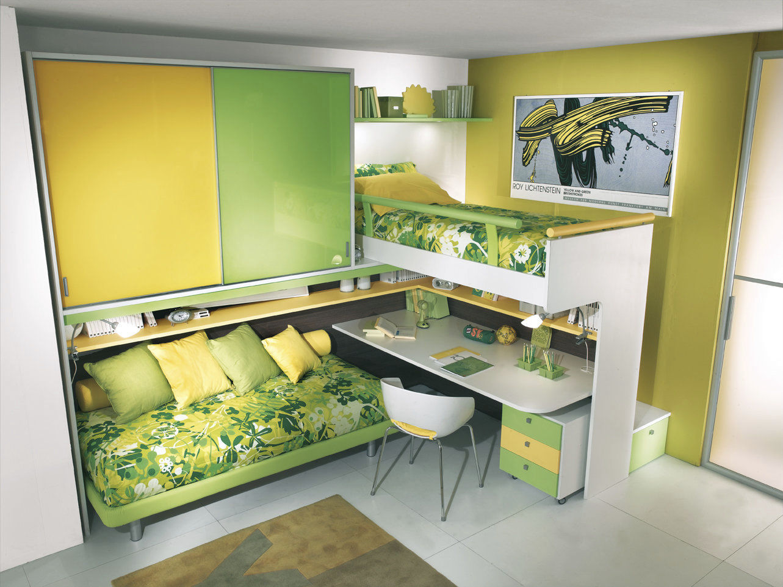 Inspirational plan lit mezzanine avec bureau