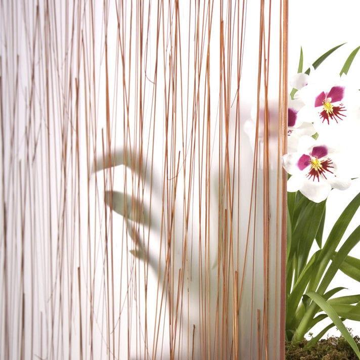 Cloison Plante panneau décoratif en résine / pour cloison / avec insert en plante