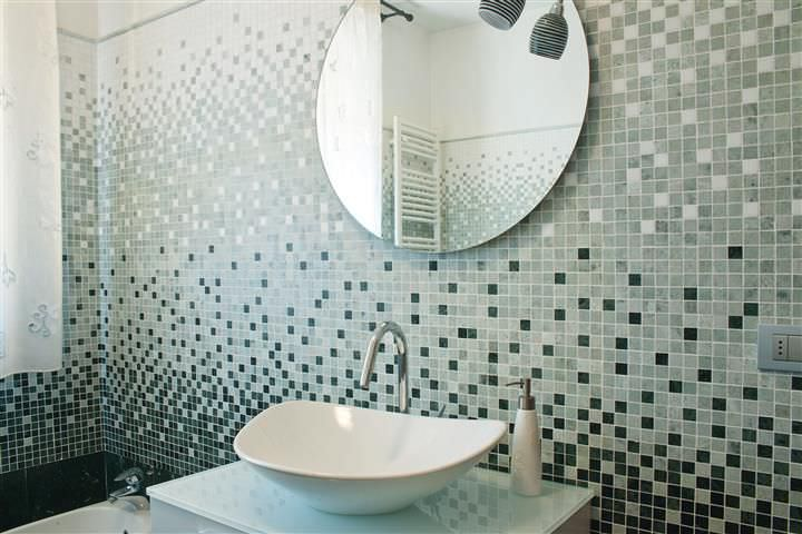 mosaïque d'intérieur / de salle de bain / murale / en marbre ... - Photo Salle De Bain Mosaique