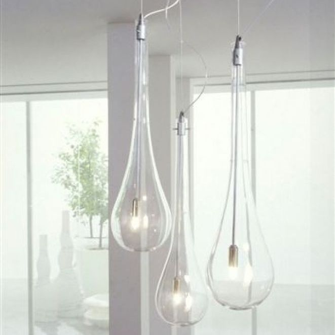 Lampe Suspension  Contemporaine  En Verre  Pour Miroir  Splash