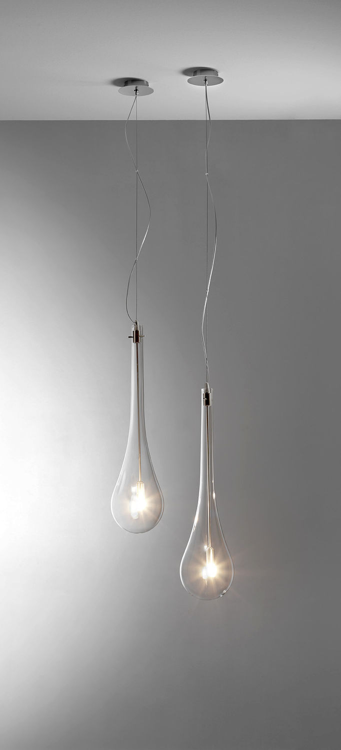 Suspension / Contemporaine / En Verre / Pour Miroir
