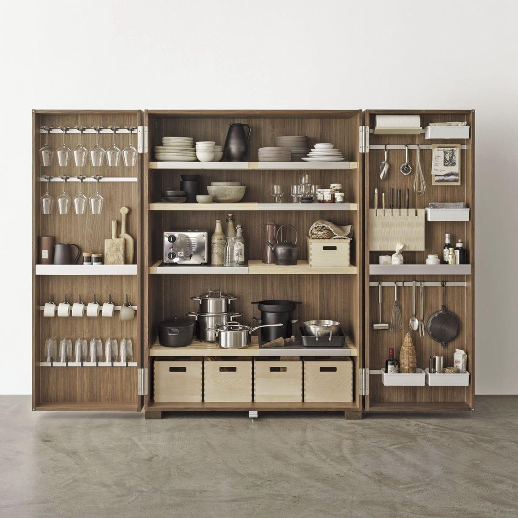 armoire de rangement pour cuisine en noyer - tool cabinet - bulthaup - Meuble De Rangement Pour La Cuisine