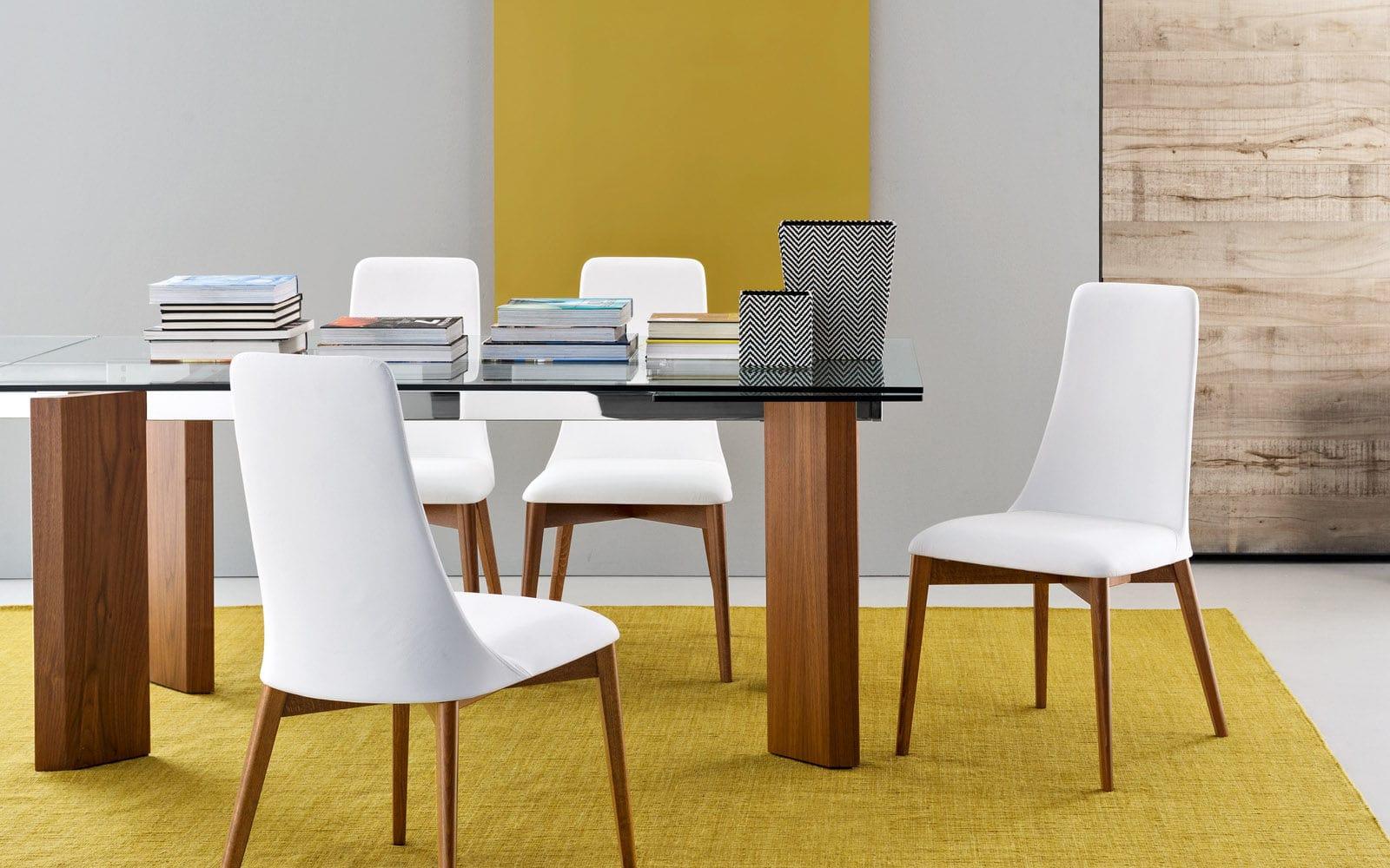 ... chaise contemporaine   tapissée   avec dossier haut   en frêne ... 791ab467fd3c