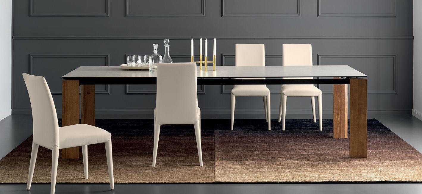 Table Contemporaine En Bois En Ceramique Rectangulaire