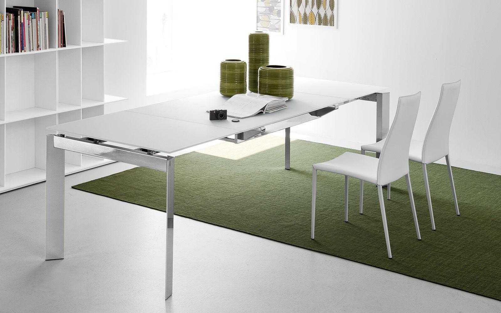 Chaise de salle à manger / contemporaine / en métal / en cuir ...