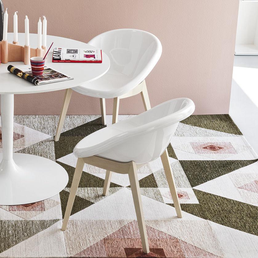 Chaise de salle à manger / contemporaine / en hêtre / en métal ...