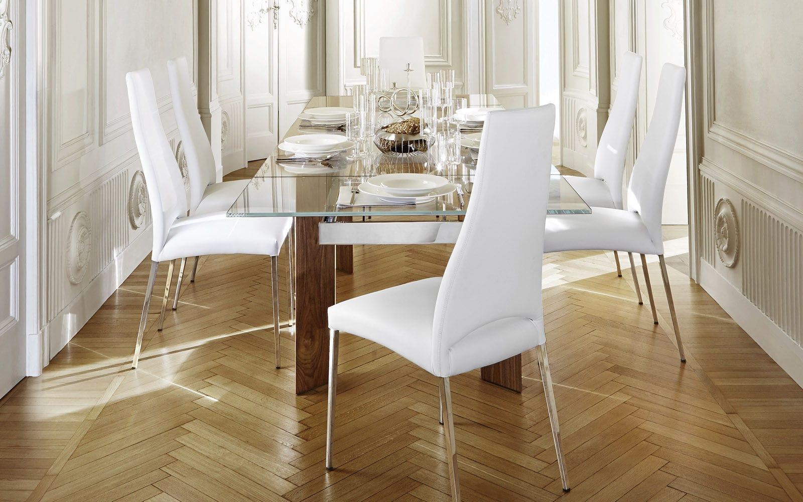 chaise contemporaine   avec accoudoirs   tapissée   avec dossier haut ... 5db09f9b35ff