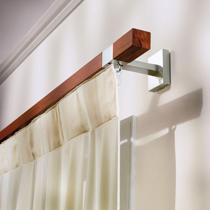 Tringle à rideaux en aluminium / en bois - ADELE - CASA VALENTINA
