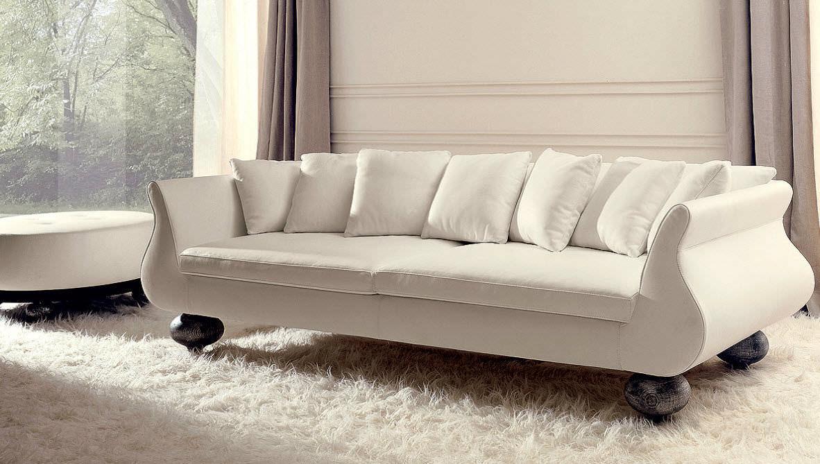 Canapé Classique En Tissu Places Marron CHARME DC EGO - Canapé classique