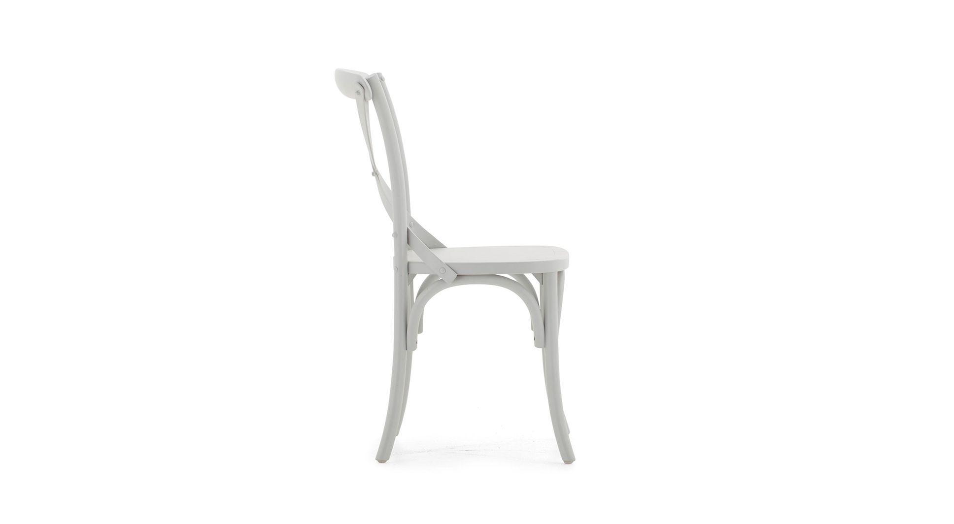 Chaise Classique En Bois Blanche Grise