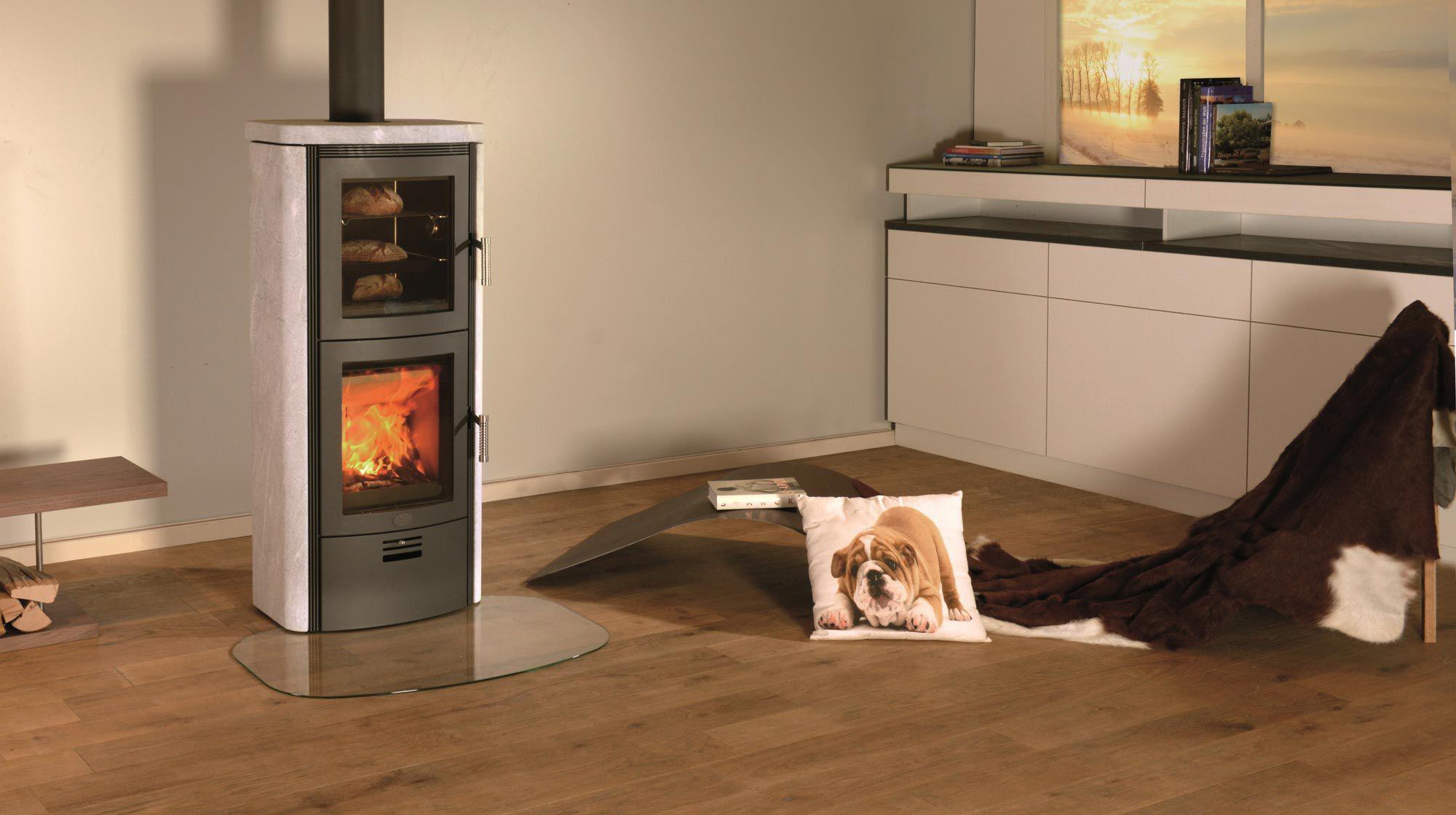 po le bois contemporain en pierre avec four. Black Bedroom Furniture Sets. Home Design Ideas