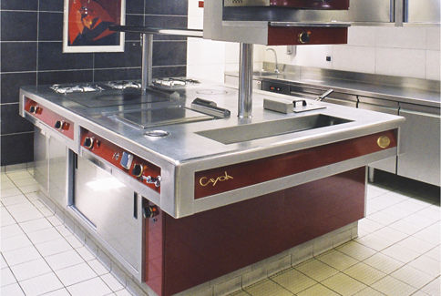 Cuisine en acier modulaire professionnelle