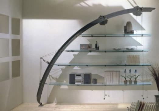 Étagère murale / design original / en métal / en verre - REX - LA CITTA\'