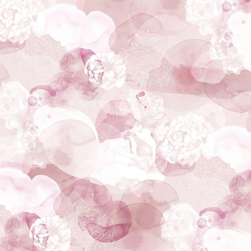 Papier Peint Contemporain En Tissu A Motif Floral Non Tisse