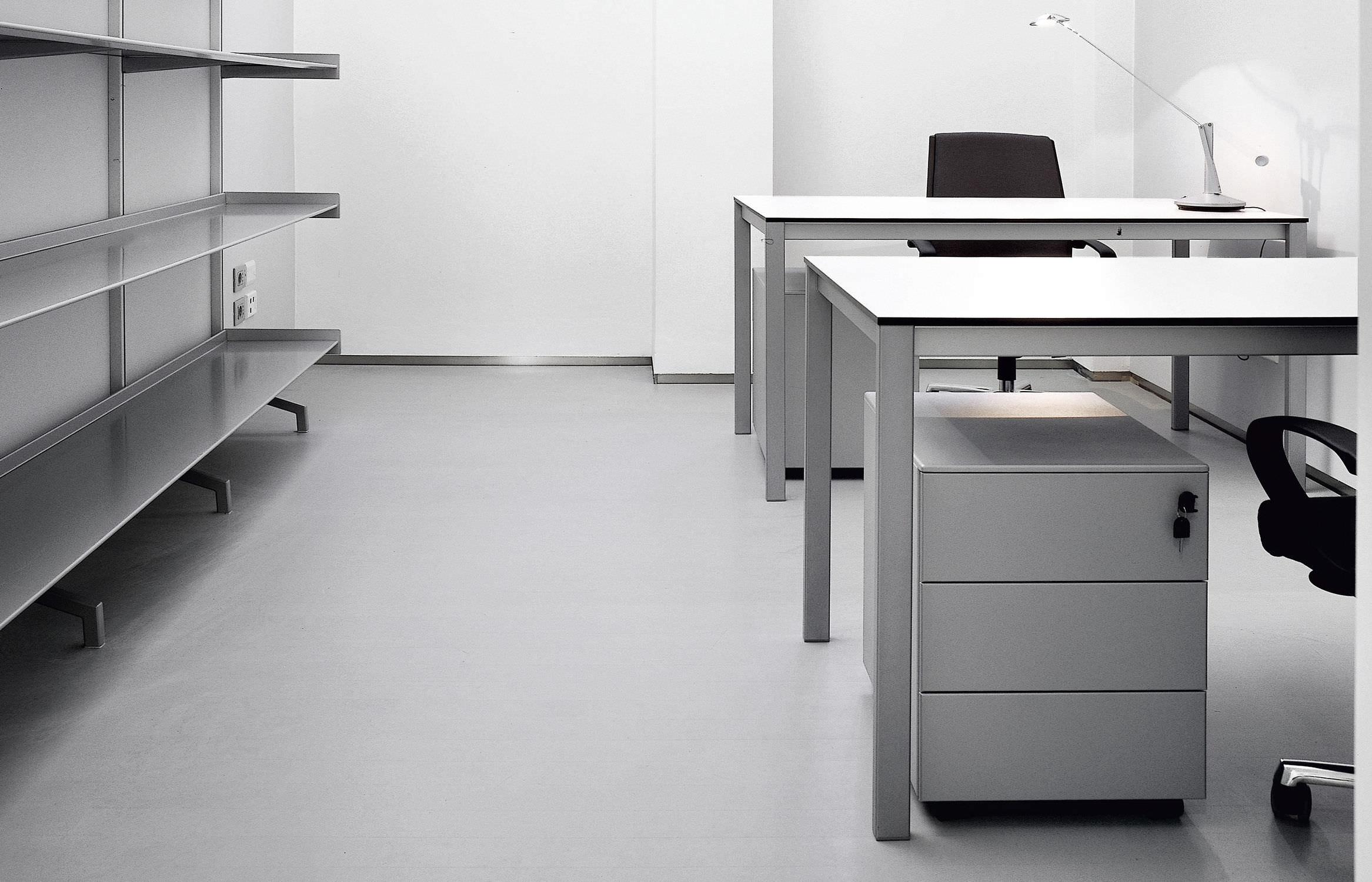 Caisson de bureau en acier en aluminium à 3 tiroirs à