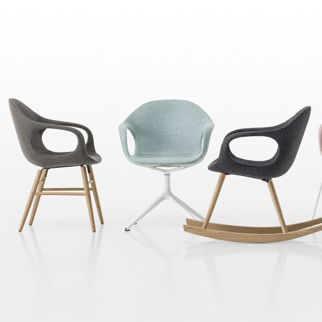 Chaise Design Scandinave Tapissee Avec Accoudoirs Luge