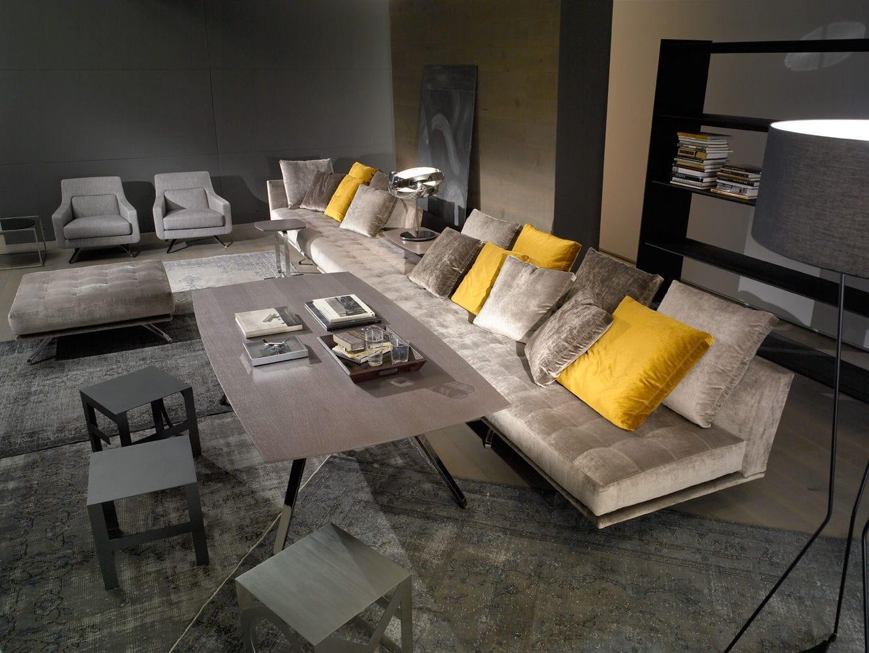 Canapé modulable / contemporain / en tissu / 7 places et plus ...