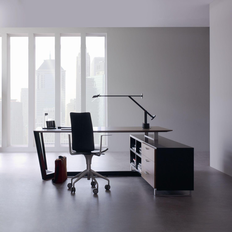 Bureau en bois en inox contemporain professionnel lorca by