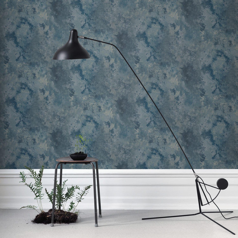 Papier peint contemporain / à motif / gris / bleu - ROST by Studio ...