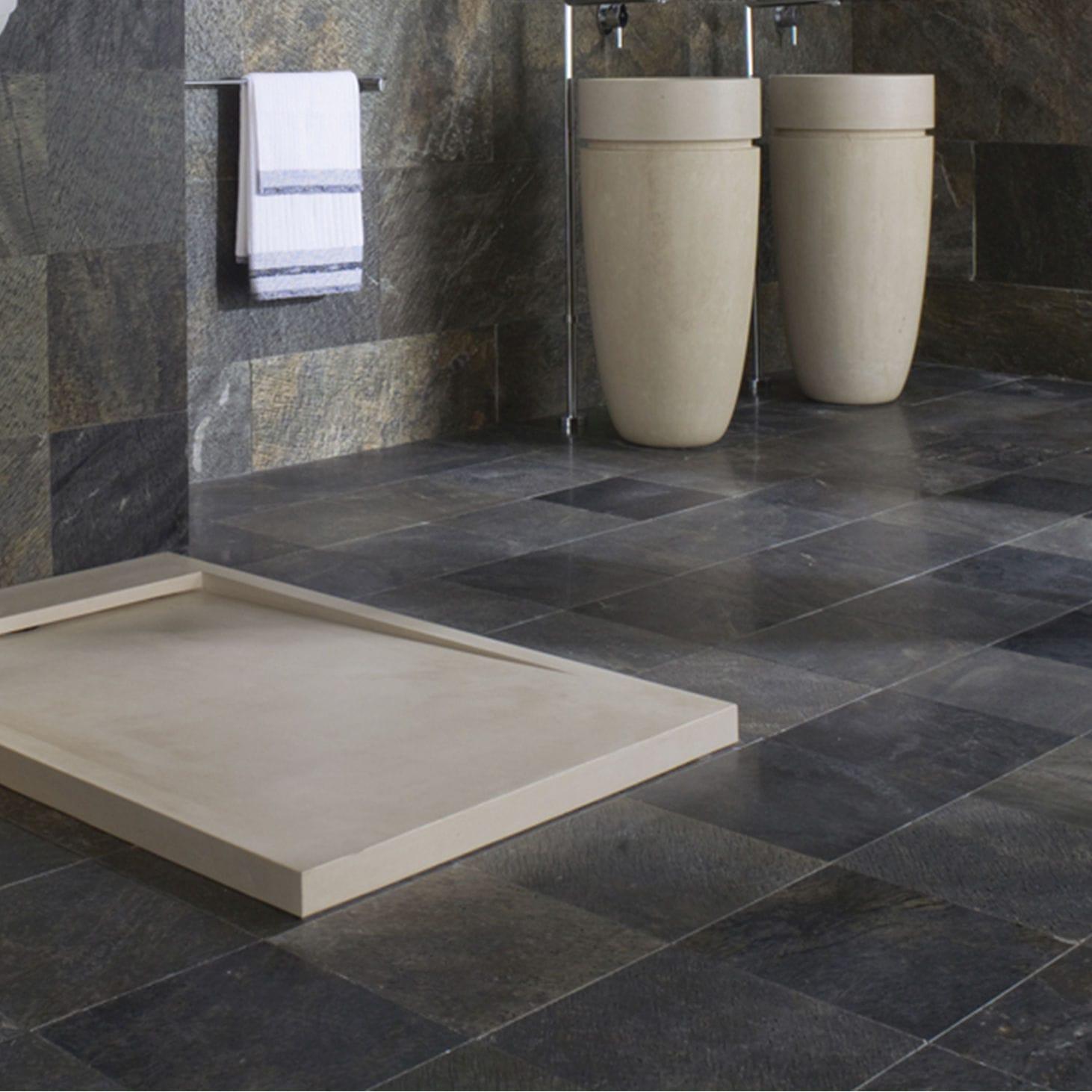 Receveur de douche rectangulaire / en pierre naturelle - ESSENCE - L ...