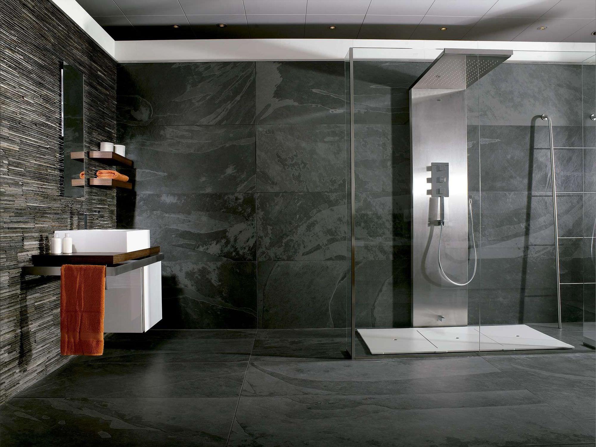 carrelage d'intérieur / de salle de bain / mural / en ardoise ... - Carrelage Salle De Bain Ardoise