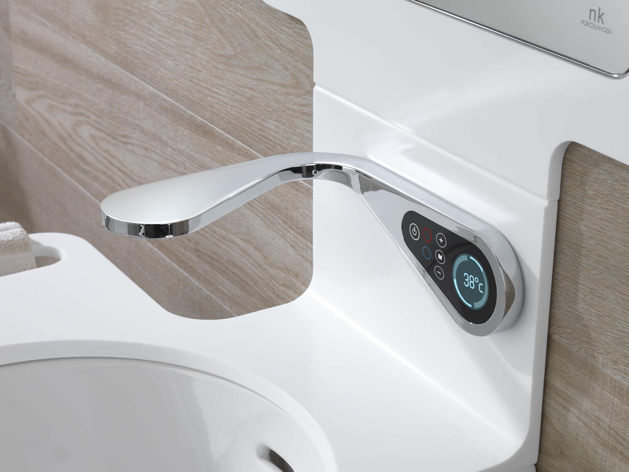 Robinet pour vasque / mural / en laiton chromé / électronique ...