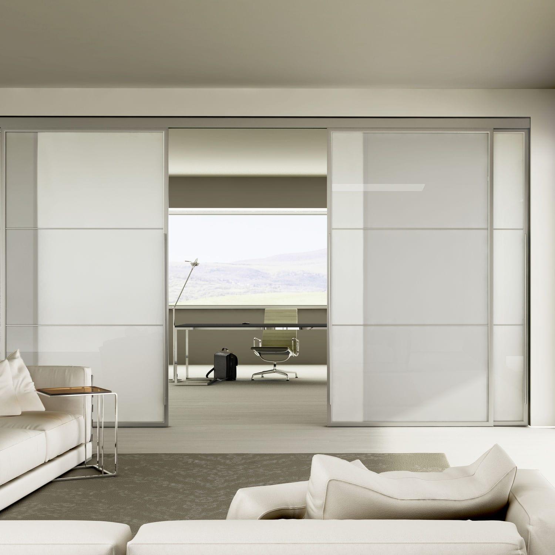 Porte Dintérieur Coulissante En Aluminium Double LIGHT - Porte placard coulissante de plus double porte vitrée d intérieur