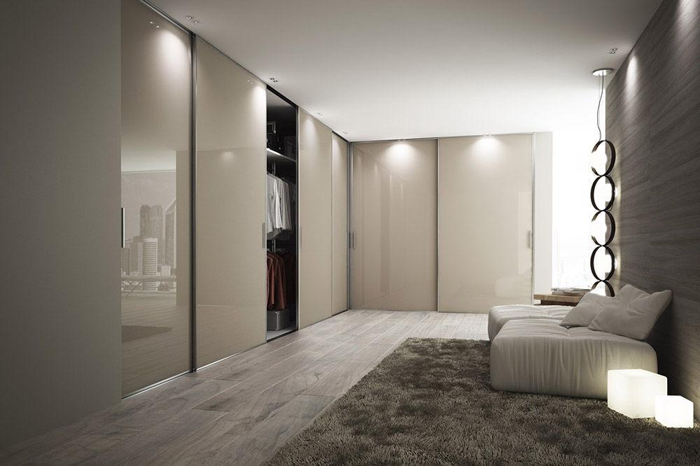 Porte Dintérieur Pour Placard Coulissante En Verre STAINO - Porte placard coulissante de plus double porte vitrée d intérieur