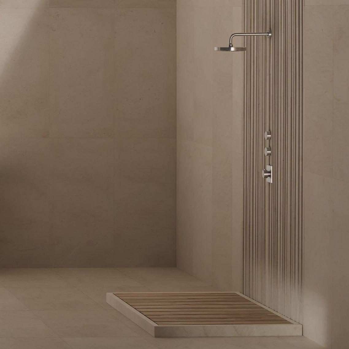 Pierre Naturelle Douche concernant receveur de douche rectangulaire / en pierre naturelle / en teck