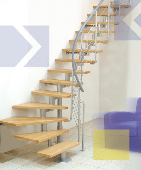 escalier quart tournant modulable