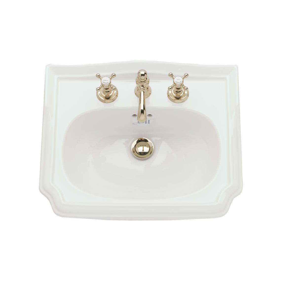 vasque en porcelaine vasque à encastrer - rectangulaire - en porcelaine - classique - 4013-4014