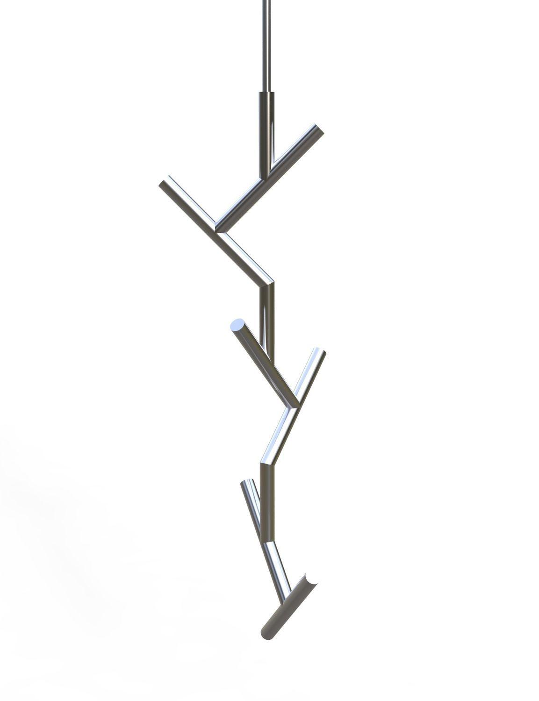 Porte-manteau de plafond / contemporain / en acier inoxydable laqué ...