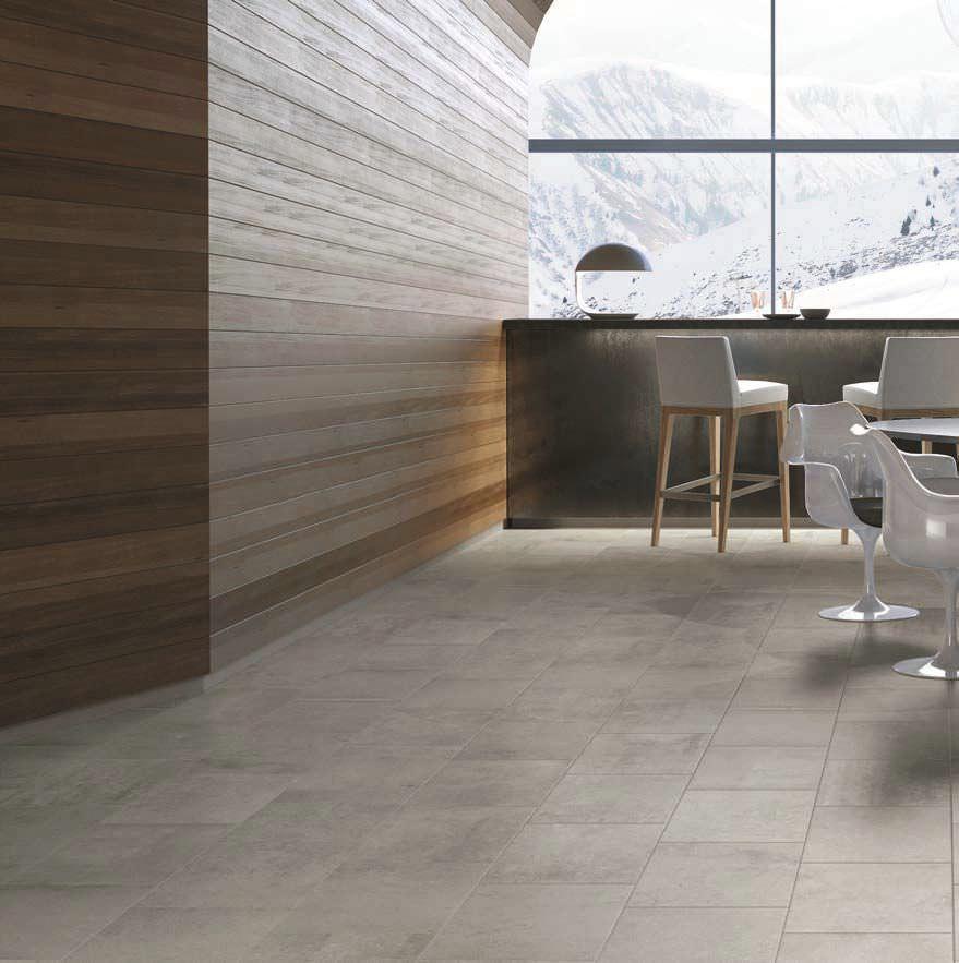 Carrelage Dintérieur De Sol En Grès Cérame Mat BARDERY GRIS - Carrelage gris clair