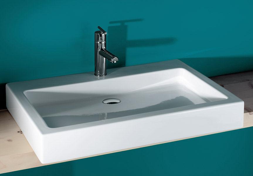 vasque a poser ceramique vasque à poser - rectangulaire - en céramique - contemporaine ...