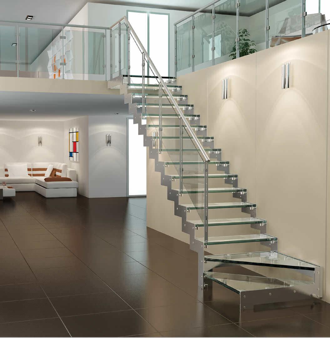 Escalier Verre Et Metal
