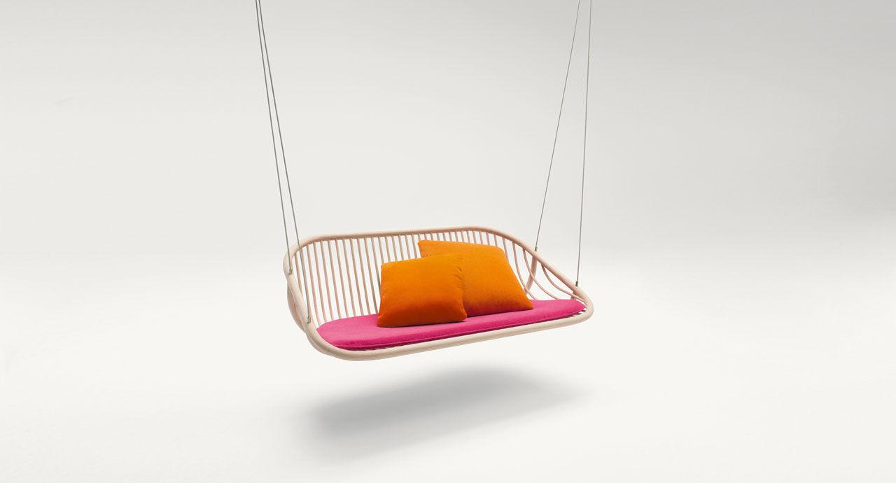 Balancelle De Jardin En Inox En Bois En Polyester Suspendue