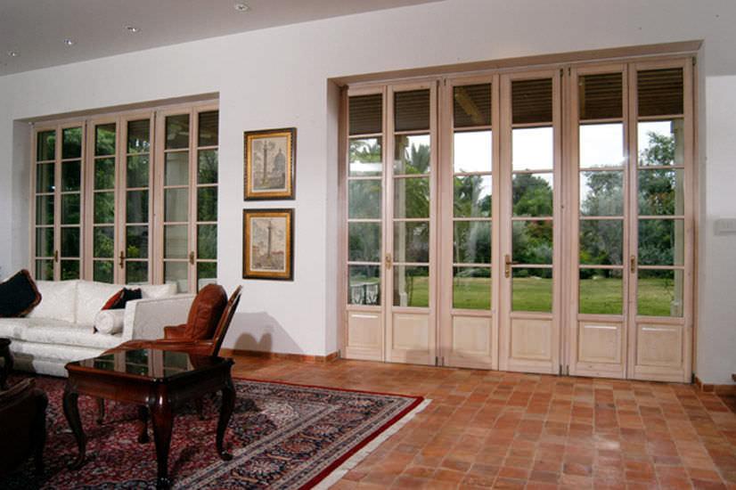 Porte-fenêtre Battante / En Aluminium / En Bois / à Double Vitrage