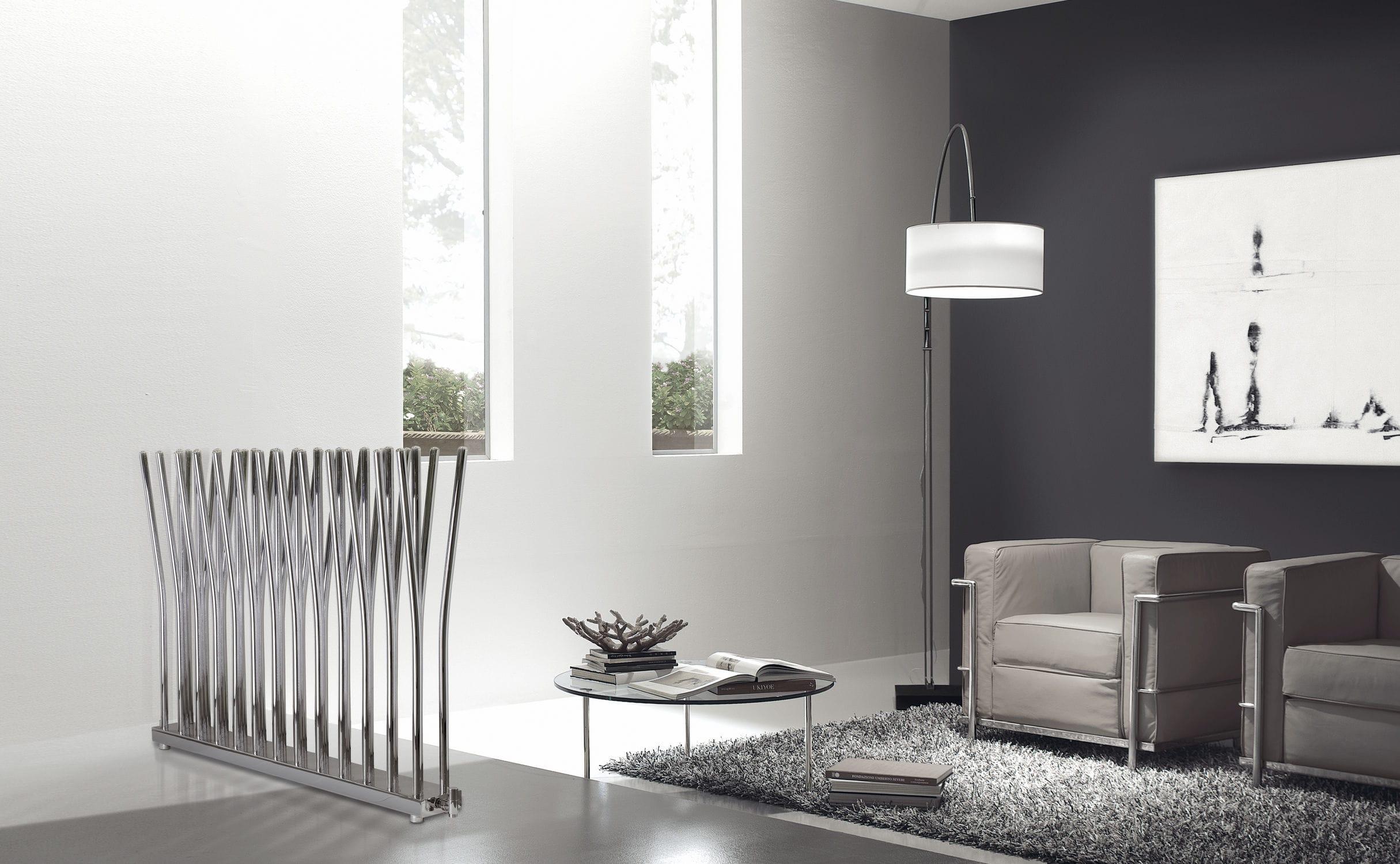Radiateur à eau chaude / en métal / design original / horizontal ...
