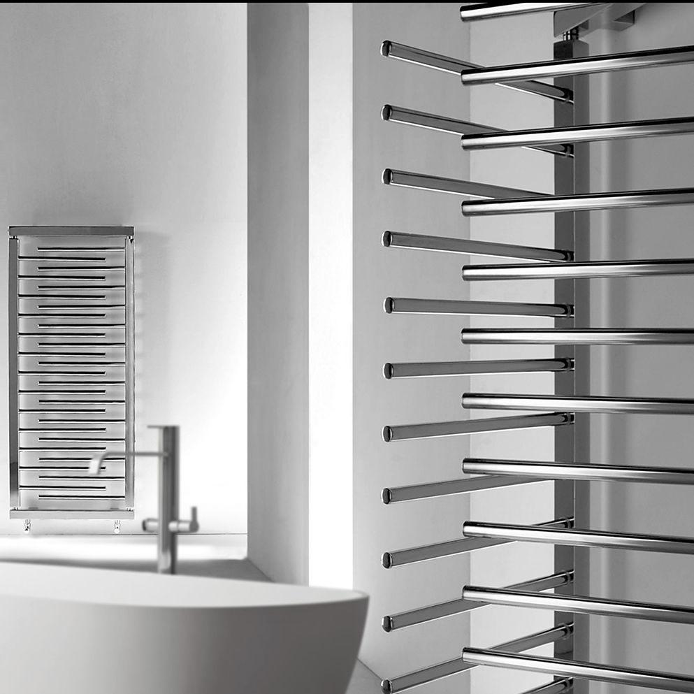 Radiateur à eau chaude / en métal / contemporain / de salle de ...