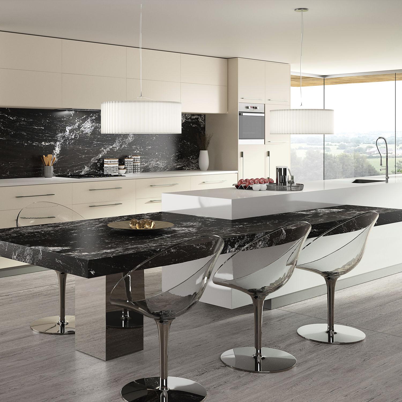 Plan De Travail En Granite De Cuisine Blanc Noir Beauty