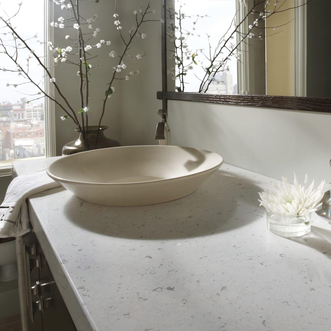 Salle De Bain Couleur Beige ~ plan vasque en silestone bianco rivers cosentino