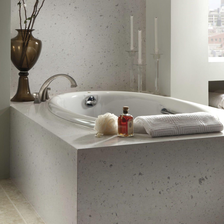 Salle De Bain Couleur Beige ~ habillage de baignoire rectangulaire bianco rivers cosentino