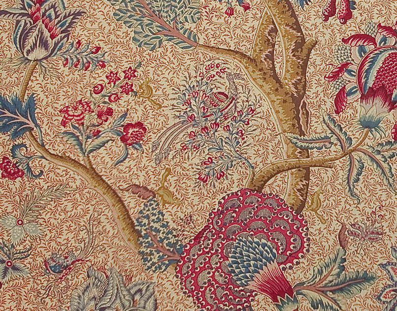 Tissu dameublement / à fleurs / en coton LE GRAND CORAIL Braquenié