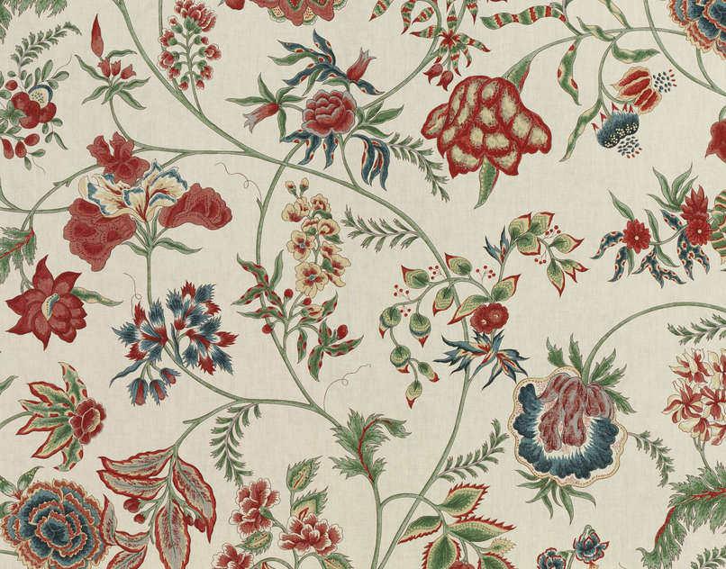 Tissu dameublement / à fleurs / en coton , SAINT LEGER