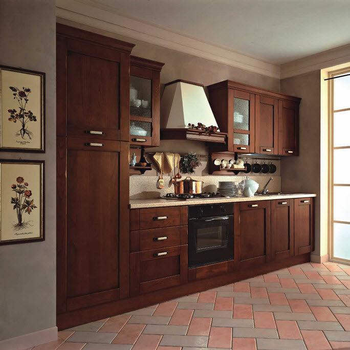 Cuisine classique / en bois massif / en bois / dissimulée ...